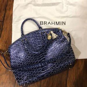 Brahmin Melbourne Croc Satchel